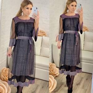 Платье короткое нарядное однотонное Ф8305