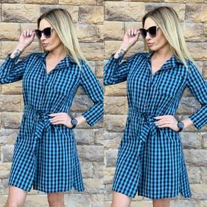 Платье короткое с длинным рукавом современное Ц3616