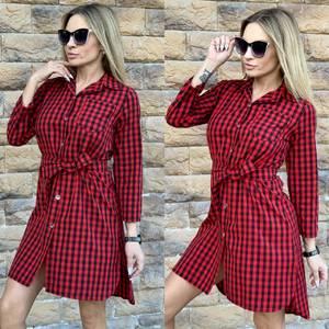 Платье короткое с длинным рукавом современное Ц3617