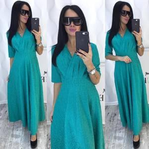 Платье длинное однотонное нарядное Ф8787
