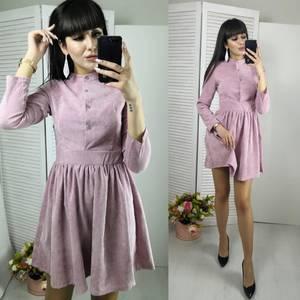 Платье короткое нарядное однотонное Ф6143