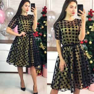 Платье короткое коктейльное элегантное Ф8288
