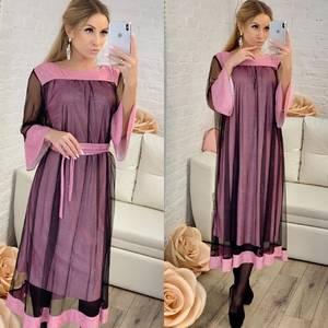 Платье короткое нарядное однотонное Ф8306