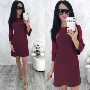 Платье короткое с рукавом 3/4 современное Ф8698