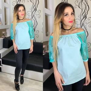 Блуза голубая Х5260
