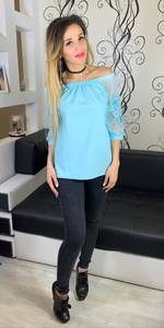 Блуза голубая Х5262