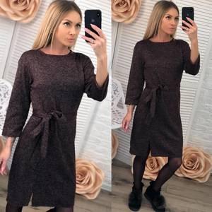 Платье короткое повседневное с рукавом 3/4 Ф2879