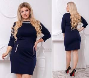 Платье короткое нарядное черное Ф5997