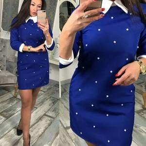 Платье короткое с рукавом 3/4 современное Ф7994