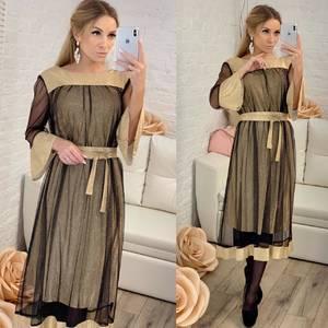 Платье короткое нарядное однотонное Ф8307