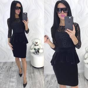 Платье короткое с рукавом 3/4 современное Ф8750