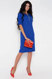 Платье короткое нарядное синее Ф1542