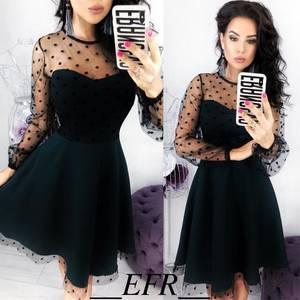 Платье короткое вечернее коктейльное Ф8769