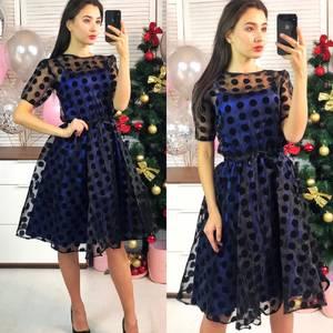Платье короткое коктейльное современное Ф8290