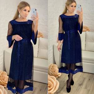 Платье короткое нарядное однотонное Ф8308
