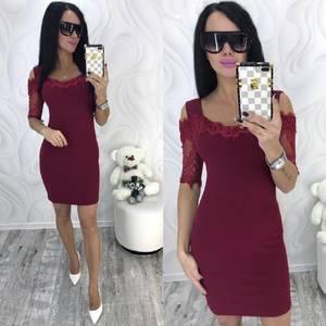 Платье короткое нарядное облегающее Ф8701