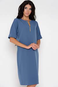Платье короткое нарядное синее Ф1543