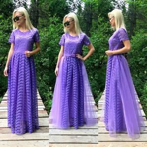 Платье длинное однотонное нарядное Т9583