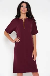 Платье короткое нарядное красное Ф1544
