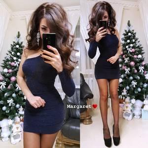 Платье короткое нарядное облегающее Ф8753