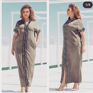 Платье длинное с коротким рукавом А48203