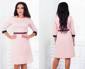 Платье короткое с рукавом 3/4 классическое Ф5294