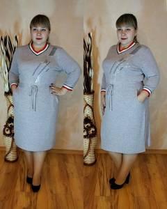 Платье короткое трикотажное У9833