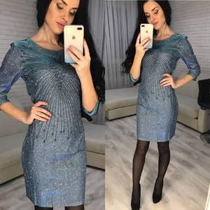 Платье короткое вечернее облегающее Ф7069
