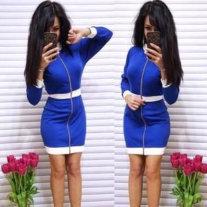 Платье короткое с длинным рукавом облегающее Ф9870