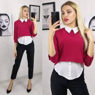 Блуза красная Ф9877