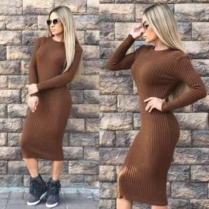 Платье короткое облегающее теплое Ф0297