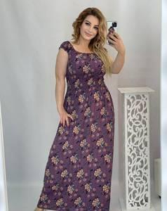 Платье длинное с коротким рукавом А48204