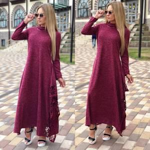 Платье длинное с длинными рукавами повседневное Ф0361
