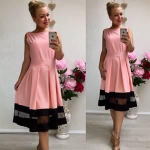 Платье короткое коктейльное классическое У8983