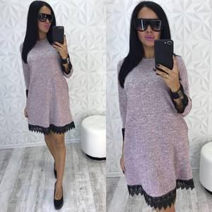 Платье короткое с рукавом 3/4 элегантное Ф0518