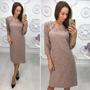 Платье короткое нарядное трикотажное Ф1383