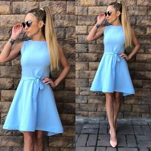 Платье короткое однотонное летнее Ф1520