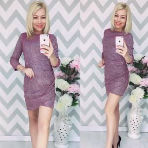 Платье короткое с рукавом 3/4 элегантное Ф6200