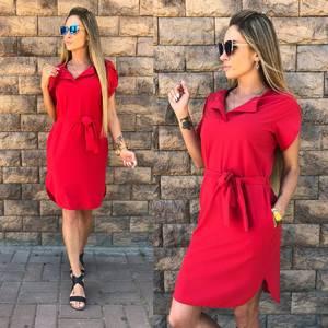 Платье короткое однотонное летнее Ф1528