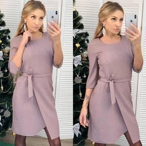 Платье короткое нарядное с рукавом 3/4 Ф6458