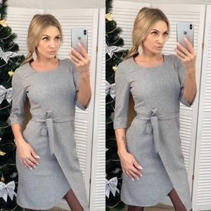 Платье короткое нарядное с рукавом 3/4 Ф6459