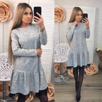 Платье короткое с длинным рукавом современное Ф4904