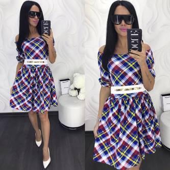 Платье короткое коктейльное современное Х8017