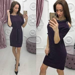 Платье короткое нарядное однотонное Ф7092