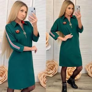 Платье короткое с рукавом 3/4 современное Ф6465