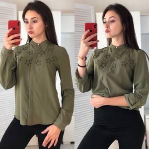 Рубашка с длинным рукавом с принтом Ф2971