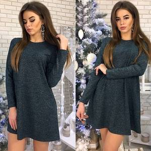 Платье короткое с длинным рукавом современное Ф6014