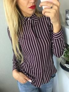 Рубашка в полоску с длинным рукавом Ф6244