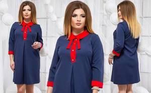 Платье короткое синее Ф7887