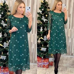 Платье короткое нарядное с принтом Ф7951
